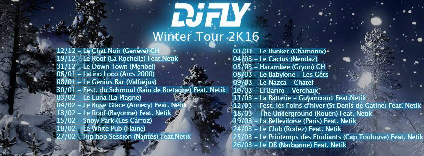 DJ FLY WINTER TOUR 2016